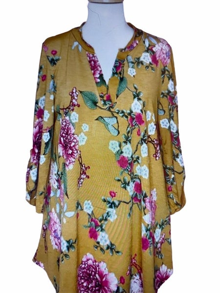 Top Gold Pink Floral