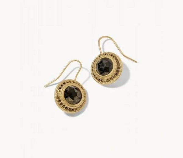 Spartina Medallion Earrings Pyrite