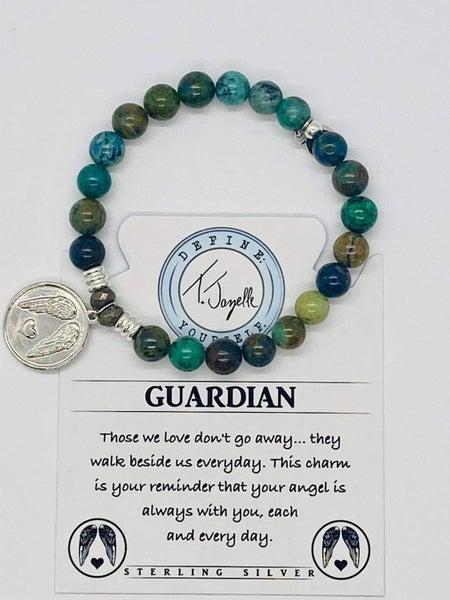 T. Jazelle Chrysocolla Bracelet w Silver Guardian Charm