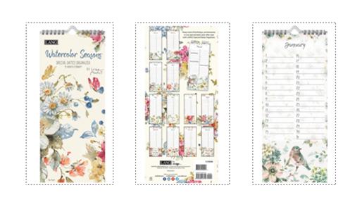 Watercolor Seasons Special Dates Organizer
