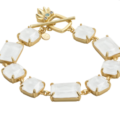 Spartina Pineapple Sparkle Toggle Bracelet