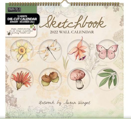 Sketchbook 2022 Diecut Spiral Calendar
