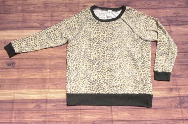 Cheetah Taupe Grey Top