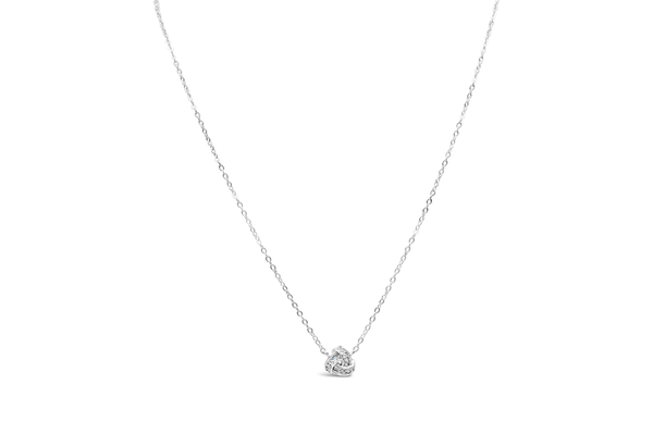 Charm & Chain Necklace Love Knot Silver
