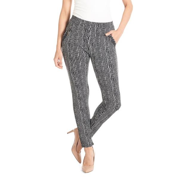 Jasmine Zip Pocket Leggings Black/White Stripe