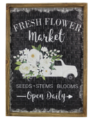 Metal Woven Wall Sign Fresh Flower Market ***Local Pickup Only***