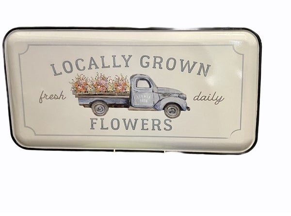Locally Grown Flowers Wall Decor