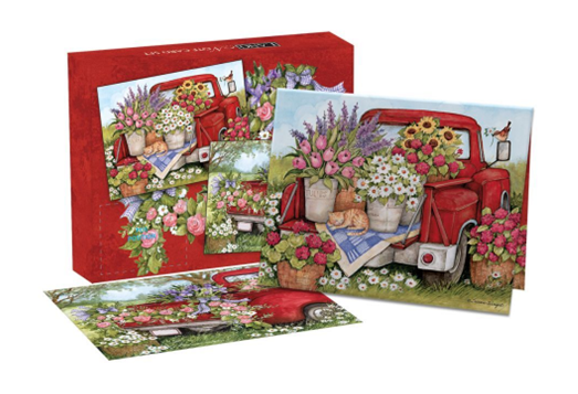 Truckin Along Boxed Note Cards