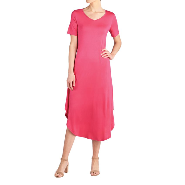 Camille Long Shirttail Dress Pink