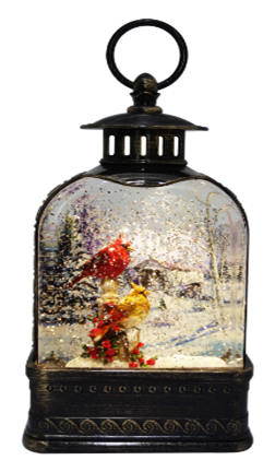 """10.75"""" Cardinal Dome Christmas Lantern ***Local Pickup Only***"""