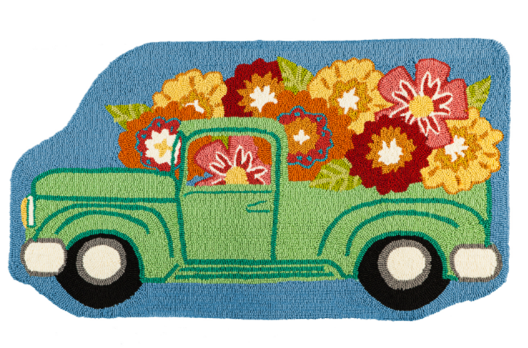 Hooked Rug Flower Truck ***Local Pickup Only***