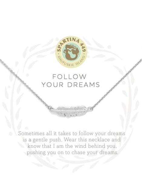 Sea La Vie Follow Your Dreams Necklace Silver