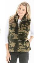 Cozy Camo Faux Fur Vest