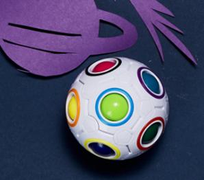 Rainbow Orbit Puzzle Ball