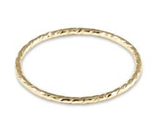 E Newton Classic Gold Thin  Band Textured Ring