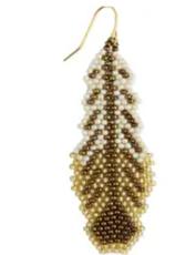 Flights of Fancy Woven Bead Feather Earrings