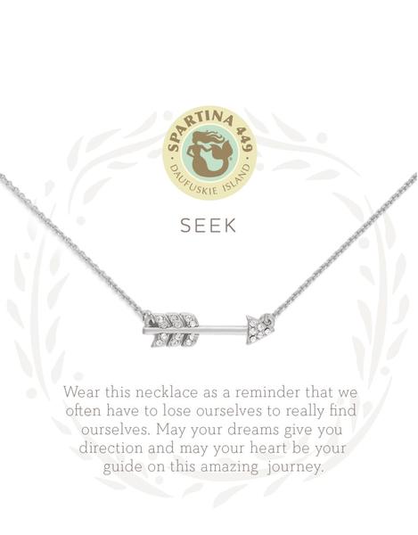 Sea La Vie Necklace Seek Silver