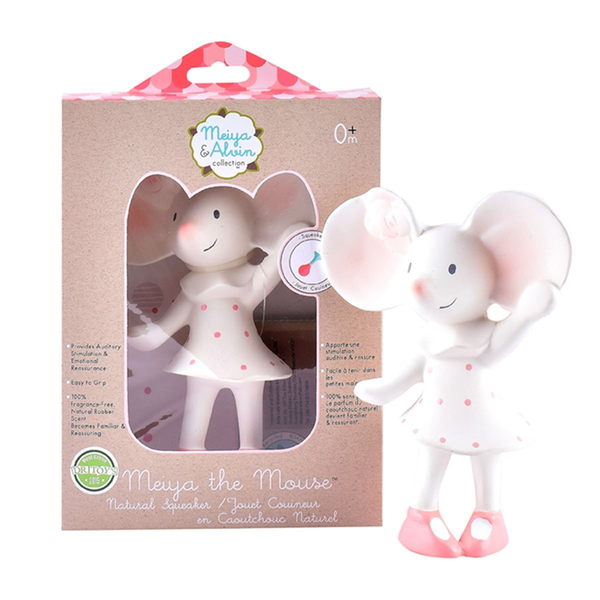 Meiya the Mouse - Organic Natural Rubber Squeaker Toy