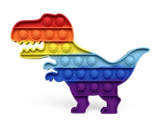 Rainbow Dinosaur Pop Fidget Toy