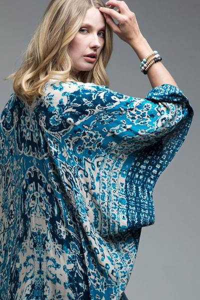 Bohemian Mandala Kimono Teal