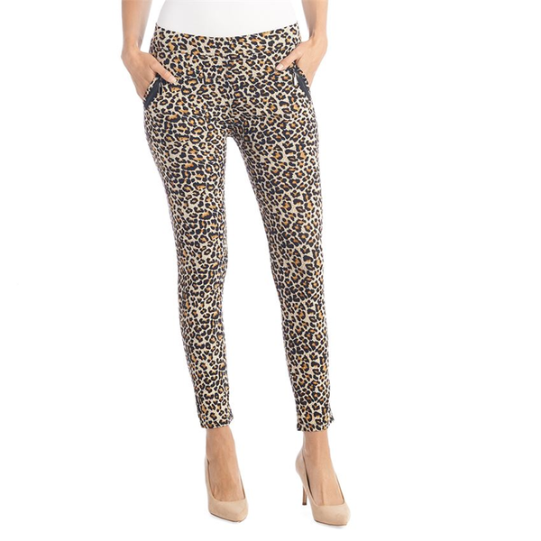 Jasmine Zip Pocket Leggings Leopard