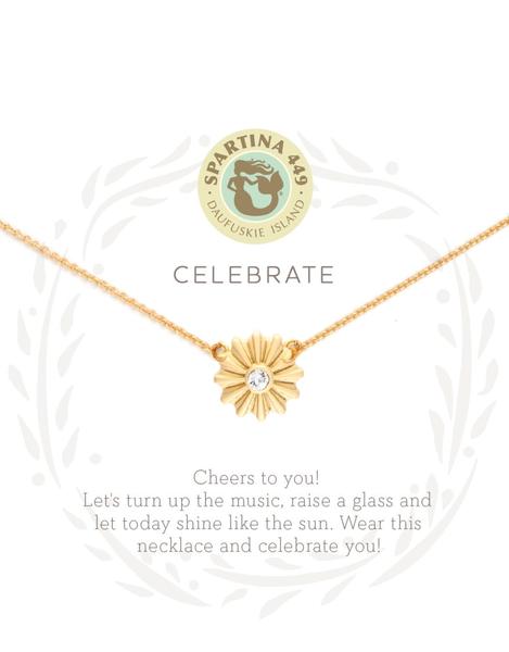 Sea La Vie Celebrate Necklace Gold