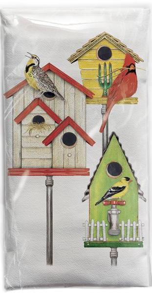 Bird Houses Flour Sack Towel