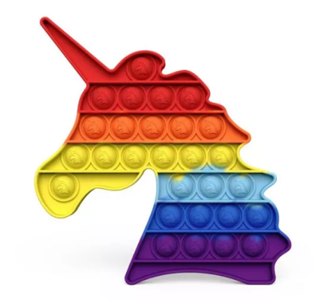 Rainbow Unicorn Pop Fidget Toy