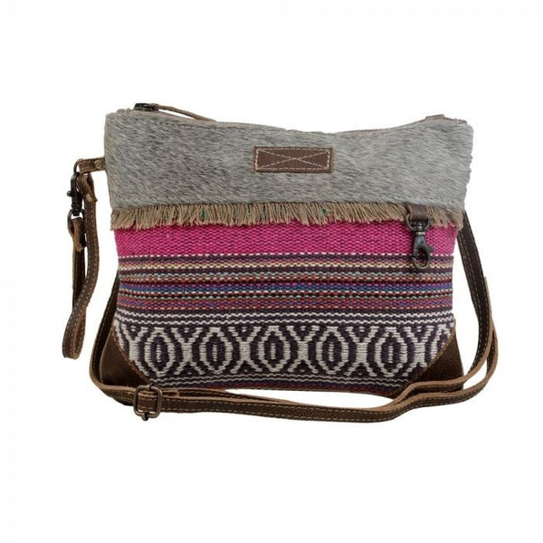 Laced Small & Cross Body Bag with Rainbow Colors