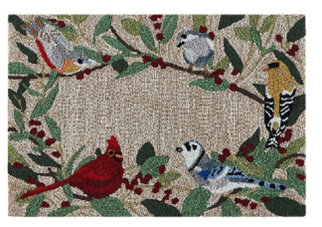Hooked Rug Birds and Berries ***Local Pickup Only***
