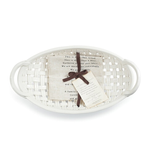 Ceramic Bread Basket w Towel ***Local Pickup Only***