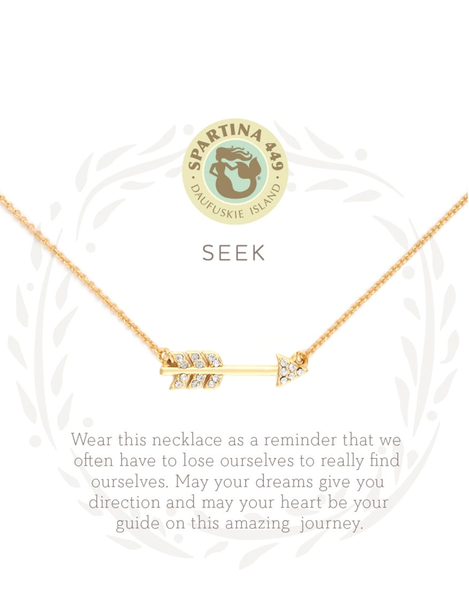 Sea La Vie Seek Necklace Gold
