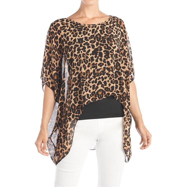 Daniela Oversized Printed Popover Leopard