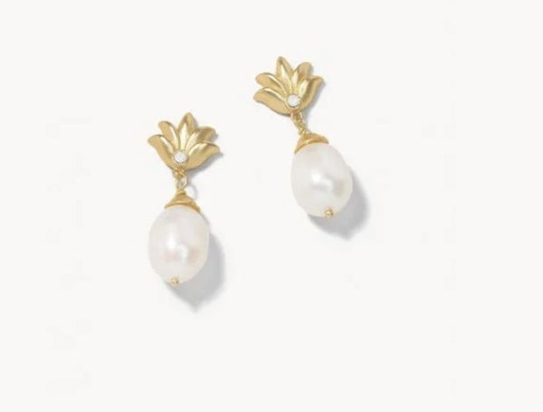 Spartina Sweet Pineapple Earrings Pearl