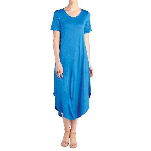 Camille Long Shirttail Dress Blue