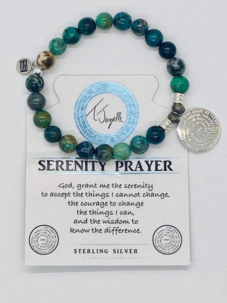 T. Jazelle Chrysocolla Bracelet with Serenity Prayer Charm