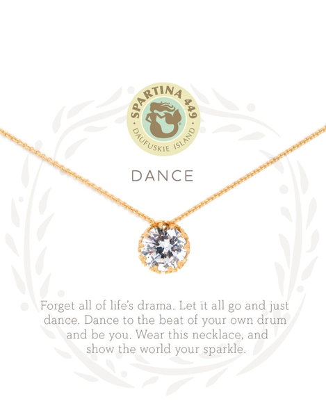 Sea La Vie Dance Necklace Gold