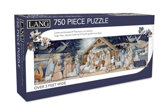 Nativity Set 750 Pc Panoramic Puzzle