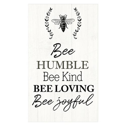 Wood Honey Bee Wall Plaque