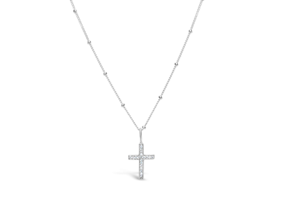 Charm & Chain Necklace Cross Silver