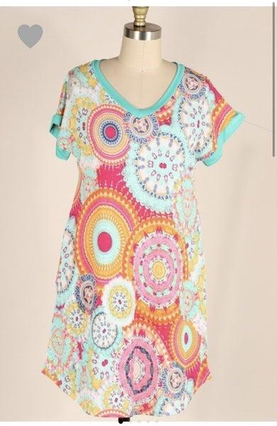 Plus Kaleidoscope Dress