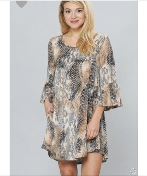 Plus Animal Print Dress
