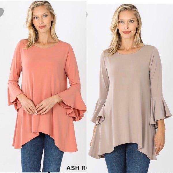 Bell Sleeve Basic Top