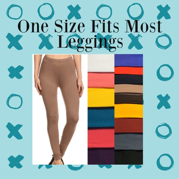 One Size Fits Most Solid Leggings