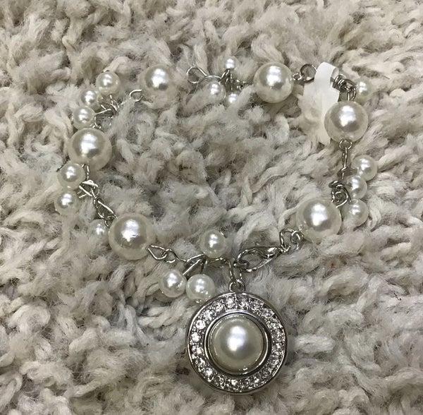 Pearl Cluster Snap Bracelet