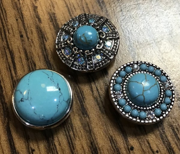 Turquoise Snaps