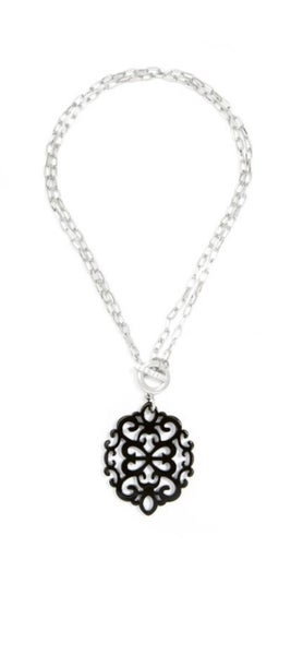 Modern Damask Necklace