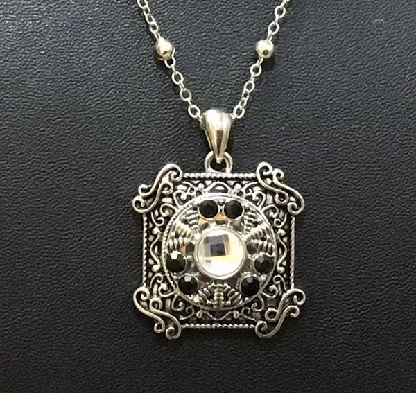 Square Snap Pendant Necklace