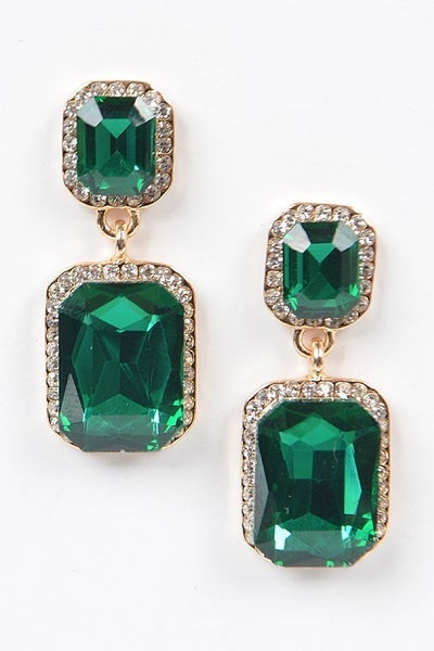 Golden Hour Statement Earrings - Green