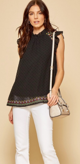 Fancy Free And Fresh Top - Black